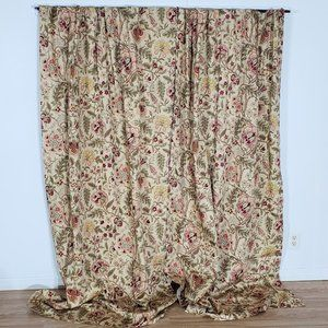 Waverly Curtain Panels Cotton Lined Tan 96W x 84L